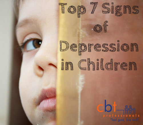 Top 7 Signs of Depression in Children CBT professionals blog; sad kid;hiding child